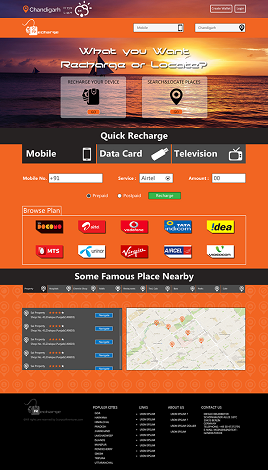 Online recharge & Location finder